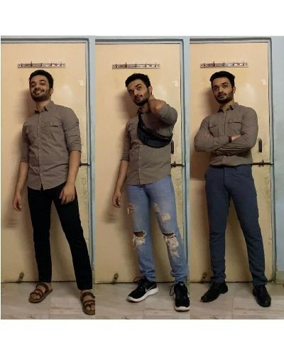 Different ways to style a Solid Shirt