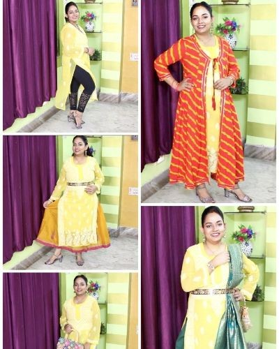 Style 1 kurti in 5 different ways
