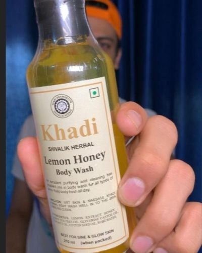 Khadi herbal lemon honey body wash