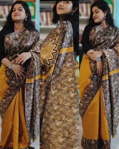 Saree With Beautiful Border...