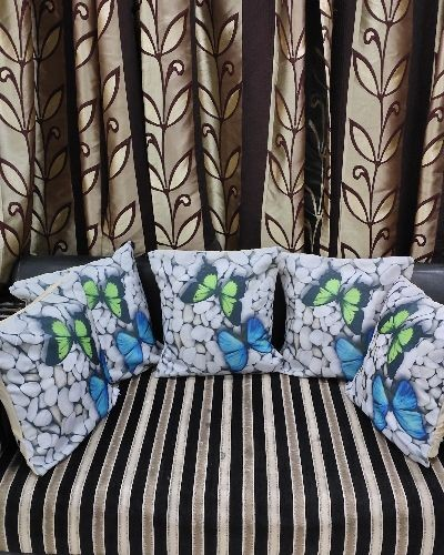 Beautiful butterfly printed cusion cover set of 5.