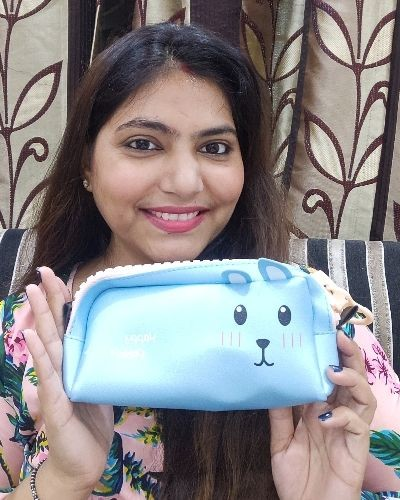 Cute designed pouch for stationery or makeup.