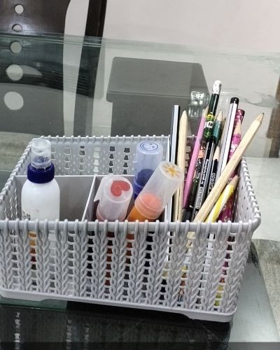 Multipurpose organizer for kitchen and bathroom.