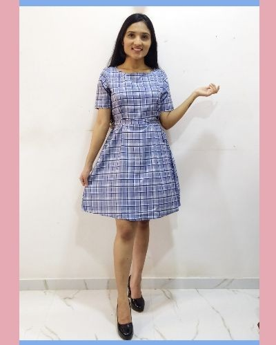 Cute and casual checkered dress