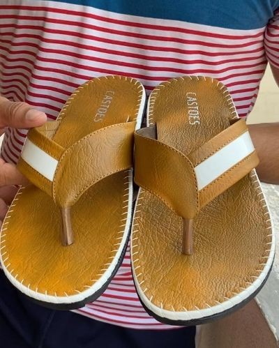 Beautiful leather slippers