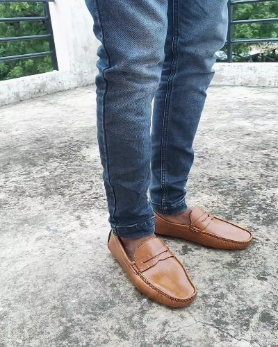 Stylish leather loafers