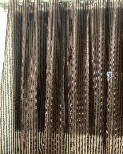 Homefab Sheer Curtains-Brown