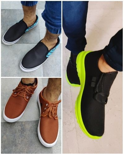 Attractive canvas shoes combo