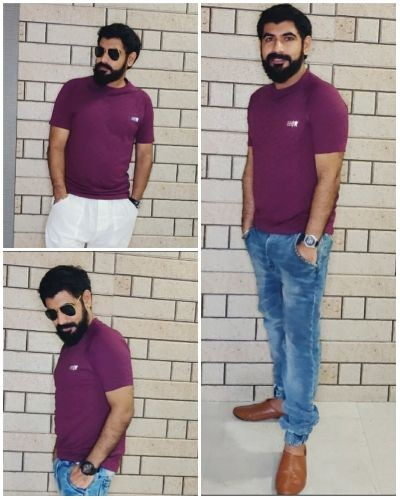 Simple Wine Colored T-shirt