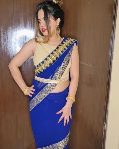 Royal Blue Saree !