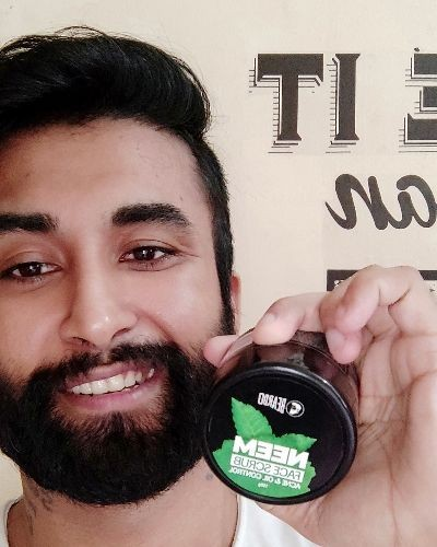 Neem face scrub for acne free skin