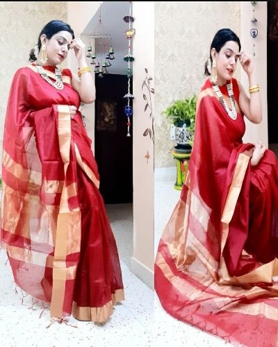 Be Wedding Ready with This Elegant Red Saree