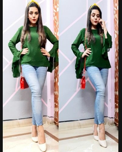 Be Stylish with Stylish bell sleeved Top