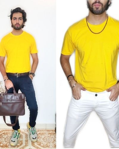 Style This Yellow T-shirt in Unique way