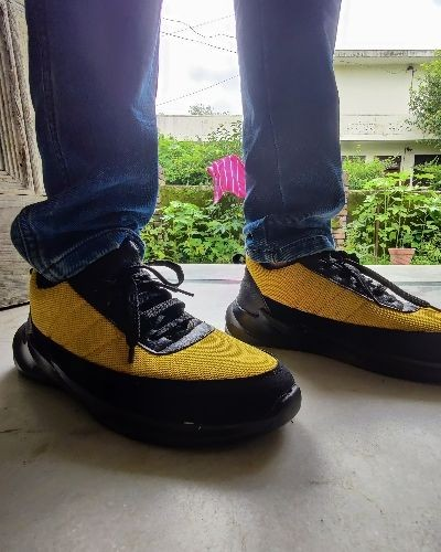 Stylish Yellow and Black Sneakers