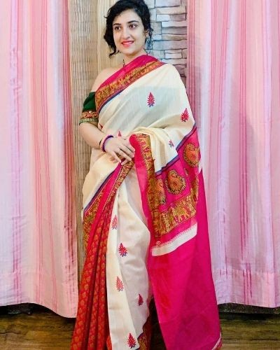 This gorgeous saree is all for you